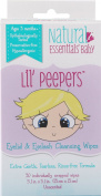 Natural Essentials Lil' Peepers Baby Eyelid and Eyelash Cleansing Wipes, 30 Count