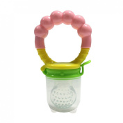 Baby Silicone Fresh Food Feeder and Rattle Include Cap Perfect for On-the-go