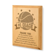 Kate Posh - #1 Basketball Coach Plaque and Award