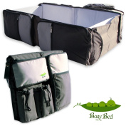 Best 3 in 1 Portable Travel Bed, Nappy Bag & nappy changing station. Portable crib and baby bassinet for travel. infant bed and top quality foldable crib