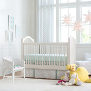Carousel Designs French Grey and Mint Quatrefoil 2-Piece Crib Bedding Set