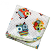Hoot Hoot - 80cm X 80cm - Lil' Whippersnapper Brand Dual-Touch Plush Baby Blanket - Perfect for Swaddling, the Stroller, & Around the House