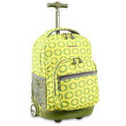 J World Lime Logo Sunrise 46cm Rolling Backpack