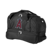 Denco Sports Luggage MLB Anaheim Angels 60cm Carry On Drop Bottom Rolling Duffel