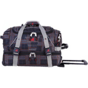 Athalon 50cm Equipment Duffel with Wheels Plaid