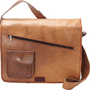Sharo Medium Brown Genuine Leather Hand-crafted Laptop Computer Messenger Bag