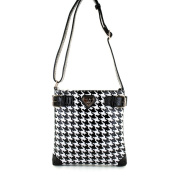 LANY 'Houndstooth' Print 28cm Cross- Body Messenger Bag