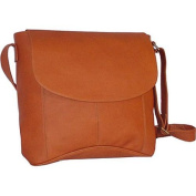 David King Leather 188 Vertical Simple Messenger Bag Tan