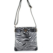 LANY 'Zebra' Print 28cm Cross- Body Messenger Bag
