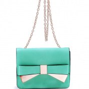Dasein Goldtone Chain Strap Bow Crossbody