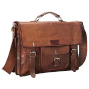 Sharo Leather 38cm Laptop Messenger Briefcase