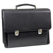 Bugatti Time Black 38cm Laptop Briefcase