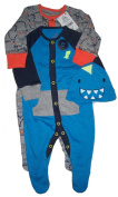Baby Boys Dinosaur Themed Set 2 Rompers And Hat Up To 3 Months