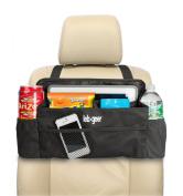 Luxury CAR organiser By Lebogner - Perfect Front Seat Organiser, Driver Organiser, Backseat Organiser, Side Seat Organiser For Kids, Black