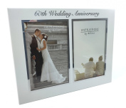 60th Diamond Wedding Anniversary Photo Frame Gift New Boxed 6 x 4