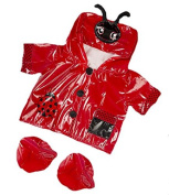 Red Ladybug Ladybird Raincoat Teddy Clothes to fit Teddy Bears 8-10 inches