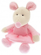 Walton Baby - Mrs Mouse - Knitted Baby Soft Toy Pink - 25cm