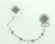 Crystal Dream Clear Filigree Gift Set Pacifier and Clip