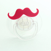 Crystal Dream Pink Handlebar Moustache Symmetric Pacifier