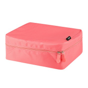 Zodaca Women Coral Travel Cosmetic Bag Makeup Case Toiletry Organiser Pouch