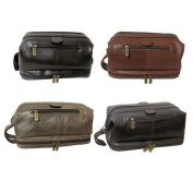 Amerileather Men's Leather Toiletry Bag