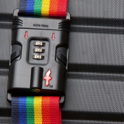Safe Skies Rainbow TSA-Approved Luggage Strap