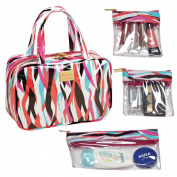 The Macbeth Collection Shag Madison MJ Cosmetic Bag with 3-Removable Compartments