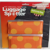Bright Orange/Yellow Polka Dot Original Patented Luggage Spotter