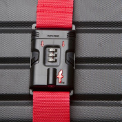 Safe Skies Red TSA-Approved Luggage Strap