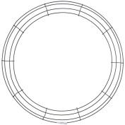 Wire Wreath Frame 20inGreen