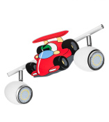 BRITOP LIGHTING Kinderspotleuchte Model Car Schienenleuchte 2 Spotlights Includes 2 x GU10, 4.5 W LED 2206202 Metal