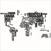 XXXL! 190cm*116cm Countries' World Map Wall Decal Wall Sticker
