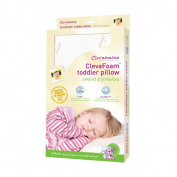 Clevamama Foam Toddler Pillow and Replacement Pillow Cover
