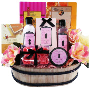 Sweet & Stylish Peony Spa Bath and Body Gift Basket