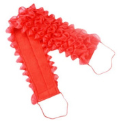 Double Thicken Bath Flower Back Strap Towel Assure To Wash Back Easily-Red