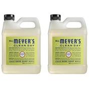 Mrs. Meyer's Liquid Hand Soap Refill, Lemon Verbena, 33 Fluid Ounce - 2 Pack