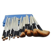LANOVA Beauty 24 Pcs Professional Cosmetic Makeup Brush Set Kit With Synthetic Leather Case Blue