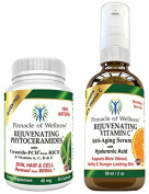 Rejuvenating Skin Care Kit - Best Natural Anti Ageing Set of Products for Women & Men - CLINICALLY PROVEN - A Serious Pre