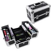 Songmics 36cm Aluminium Beauty Makeup Train Case Cosmetic Jewellery Storage Organiser Box UJBC228