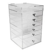 Acrylic Makeup Organiser Cube | 6 Drawers Storage Box For Vanity Tables | By N2 Makeup Co