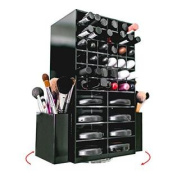Spinning Acrylic Makeup Organiser Holder for Lipstick Brushes and Powder | Cosmetics Storage Box Solution | By N2 Makeup