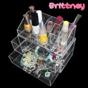 Brittney Acrylic Deluxe 2-Drawer Tiered Cosmetic/Makeup Organiser
