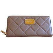 Michael Kors Hamilton Quilt Genuine Leather Za Continental Wallet Dark Khaki