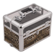 Outdoor Travel Professional Cosmetic Holder Leopard Nail Clear Case - E3310
