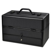 Cosmetic Makeup Train Case with Mirror and Drawer