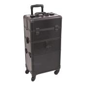Black Croc Trolley Cosmetic Makeup Case Organiser - I3264