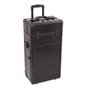 Black Croc Trolley Cosmetic Makeup Case Organiser - I3163