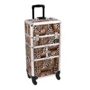 Leopard Trolley Cosmetic Makeup Case Organiser - I3664