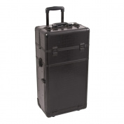 Black Croc Trolley Cosmetic Makeup Case Organiser - I3563