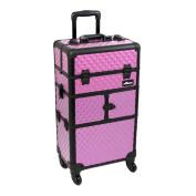 Purple Diamond Trolley Cosmetic Makeup Case Organiser - I3764